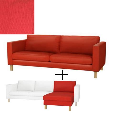 karlstad sofa slipcover ikea karlstad 3 seat sofa and chaise slipcover cover