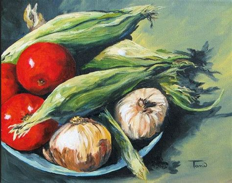 acrylic painting vegetables summer vegetables by torrie smiley from gallery