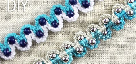 macrame beading how to make a macrame bracelet with waves and 171 jewelry