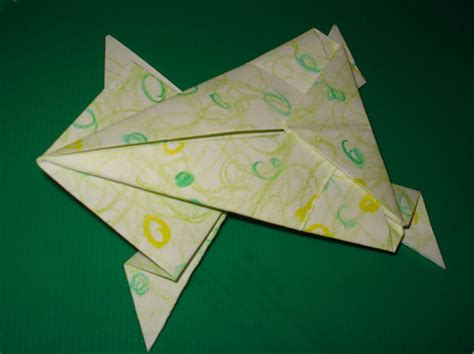 hopping frog origami craft coaching origami hopping frog