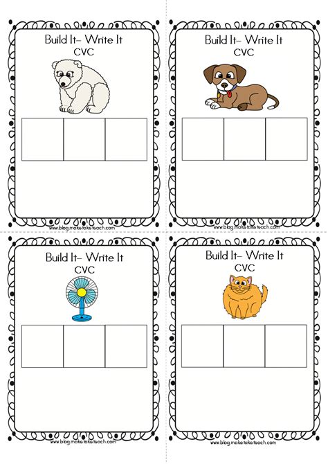make vocabulary cards classroom freebies cvc and ccvc build it write it cards