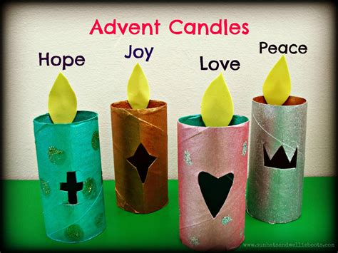 advent crafts for sun hats wellie boots glowing paper advent candles