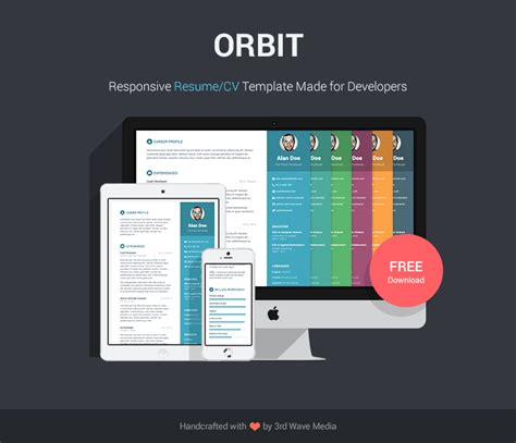 responsive html resume template free html resume template free html resume template - Resume Templates Free Html