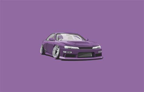 Car Wallpaper Ru by обои Purple Car Minimalistic Nissan S15