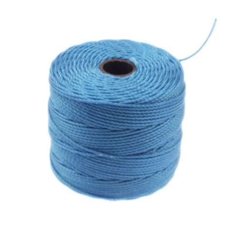 beading cord beadsmith superlon bead cord tex210 carolina blue 70m