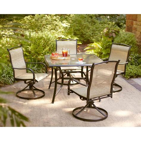 5 patio dining set hton bay altamira tropical 5 patio dining set
