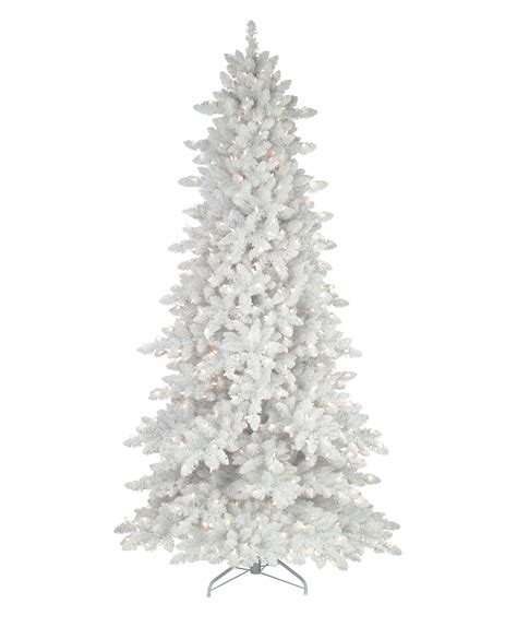 flocked white tree flocked white fir deluxe artificial tree tree