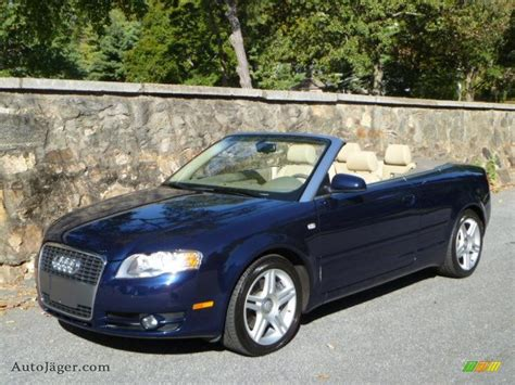 2007 Audi A4 Cabriolet by 2007 Audi A4 2 0t Cabriolet In Moro Blue Pearl Effect