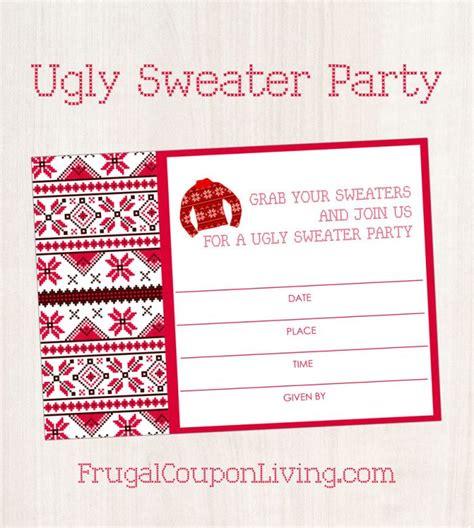 sweater invitations free free sweater invite printable