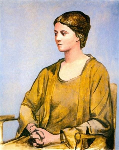 picasso paintings olga s gallery pablo picasso portrait of olga 1921 in yellow