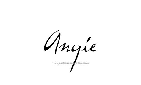 angie name tattoo designs