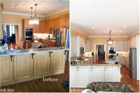 kitchen cabinet painting before and after painted white kitchen cabinets before and after