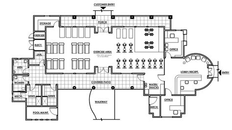 fitness center floor plans nrm architectural impression llc