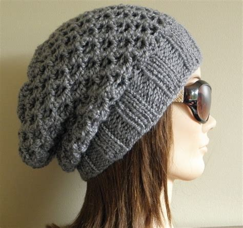 knitting hat pdf knitting pattern knit slouchy hat latissa