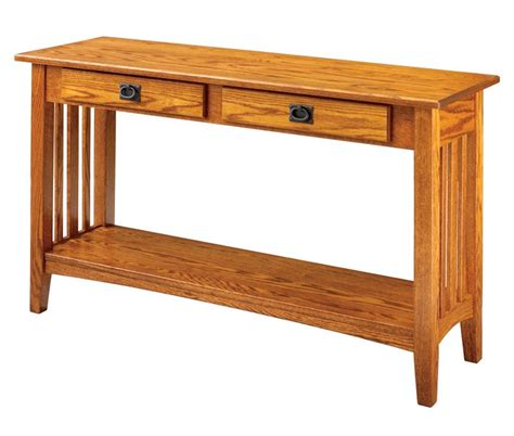 mission woodworking amish mission sofa table keystone collection