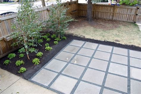 patio with concrete pavers backyard patio with concrete pavers 2 x2 simple
