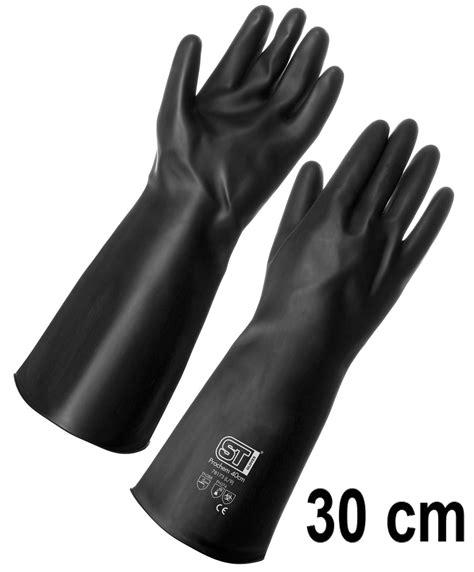 arrow rubber st prochem heavy duty rubber work safety gloves 30cm length
