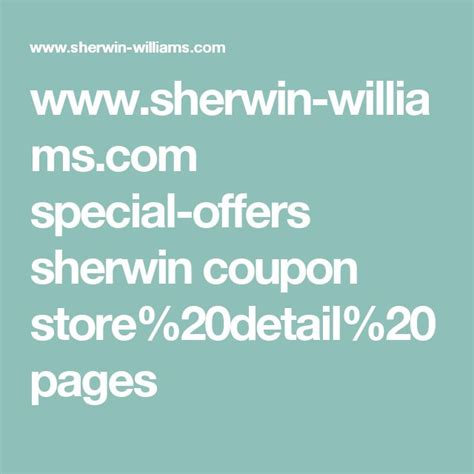 sherwin williams store coupons 17 best ideas about sherwin williams coupon on