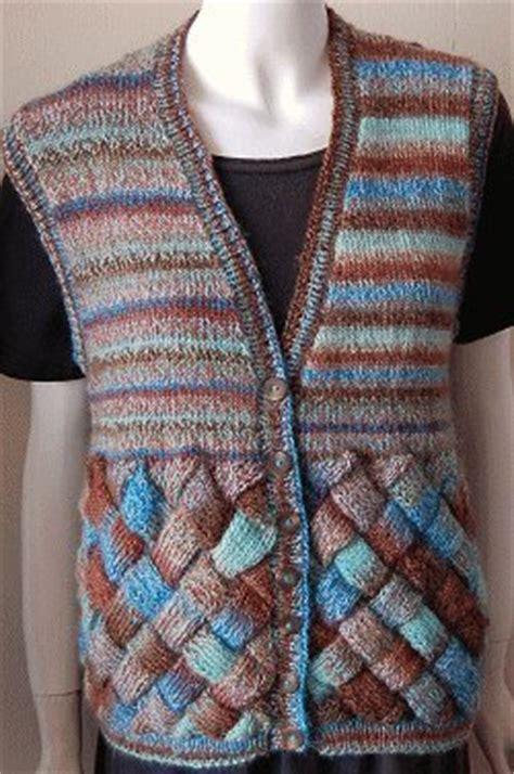 easy knit vest for beginners sweet and sassy entrelac vest allfreeknitting
