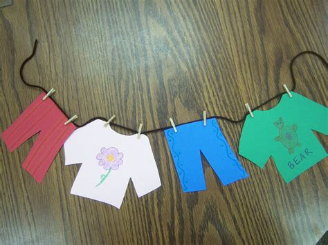 fashion crafts for clothes storytime