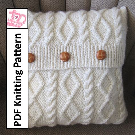 knitting patterns pdf free knit pattern pdf cable knit pillow cover pattern diamonds