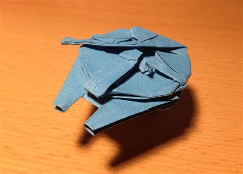 Origami Millennium Falcon Folding Hyperspace Technabob