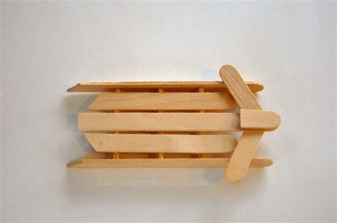 with popsicle sticks serendipity refined simple popsicle stick sled