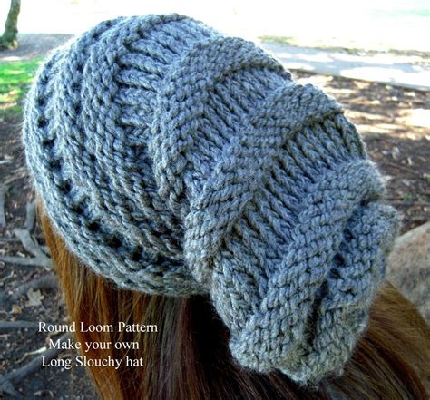 knitting loom hat patterns loom knit slouchy hat patterns a knitting