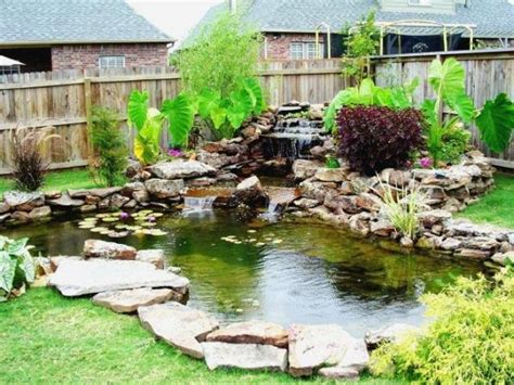 backyard pond ideas with waterfall what you need to about garden koi ponds