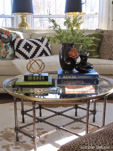 style coffee table simple details coffee table reveal and styling tips