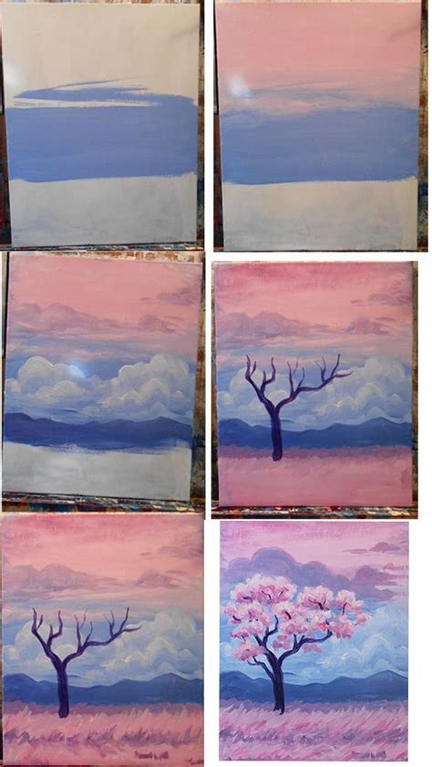 acrylic painting step by step for beginners 25 best ideas about acrylic paintings on