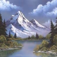 bob ross painting reflections bob ross mountain reflections painting craft board