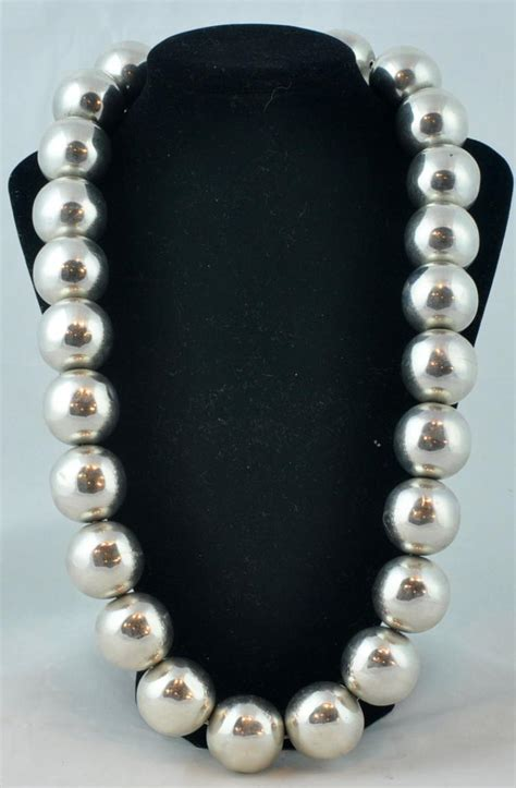 big bead jewelry mexican sterling 925 large bead necklace