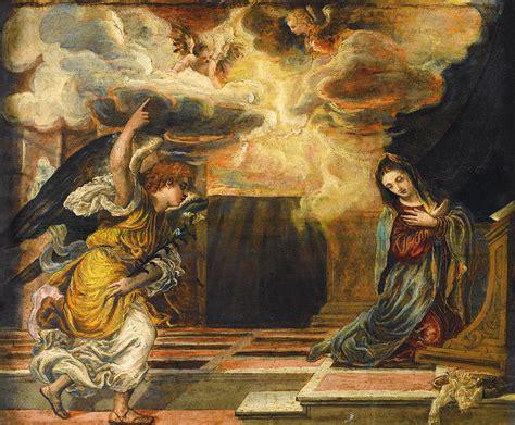 el greco woodworking the annunciation painting by el greco