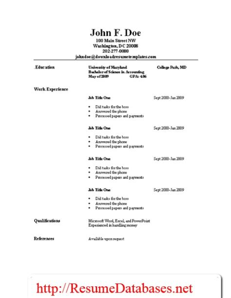 job resume samples and guides resume templates