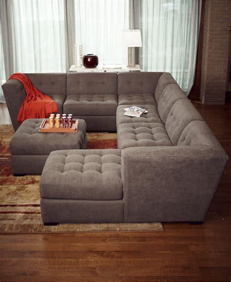 modular sectional sofa roxanne fabric 6 modular sectional sofa with ottoman