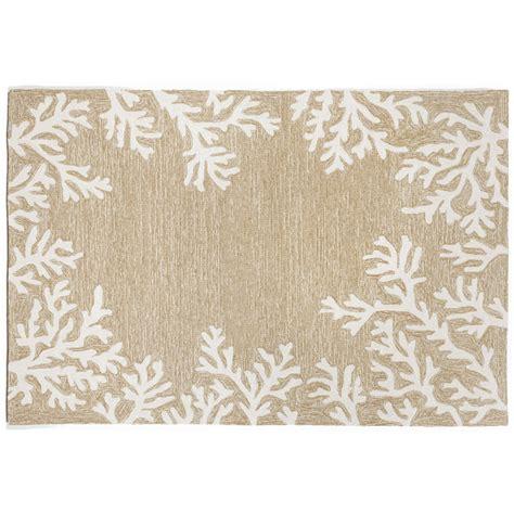coral indoor outdoor rug coral border neutral rug indoor outdoor rug
