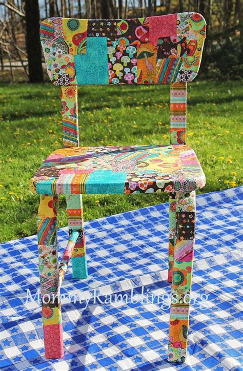 decoupage chair ideas how to decoupage a children s table and chairs with fabric