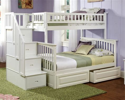 bunk beds white columbia staircase bunk bed white bedroom