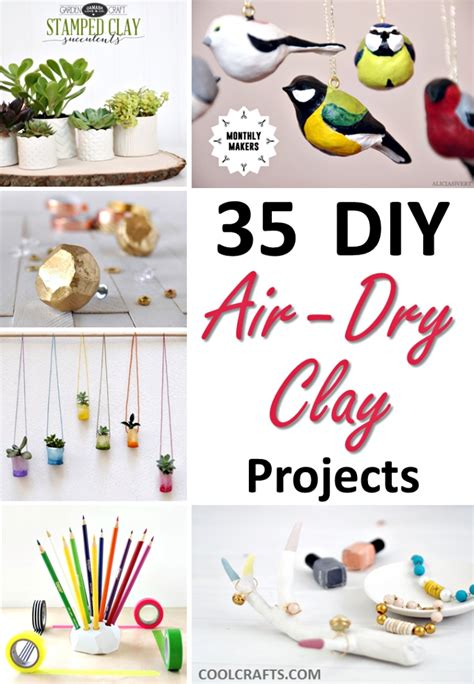 air clay projects crafts 35 diy air clay projects that are easy