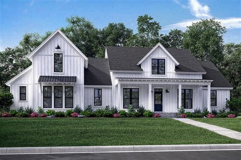 modern farmhouse plan 2 742 square 4 bedrooms 3 5 bathrooms 041 00169