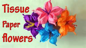 how to make tissue paper crafts diy crafts how to make tissue paper flowers easy