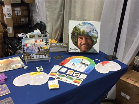 bob ross painting board bob ross of chill tabletop gaming news