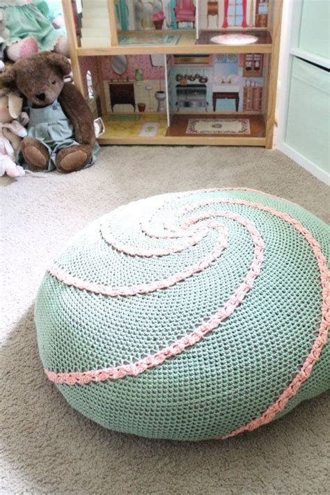 Pouf Bean Bag Chairs by Spiral Floor Pouf Pdf Crochet Pattern Ottoman Bean Bag