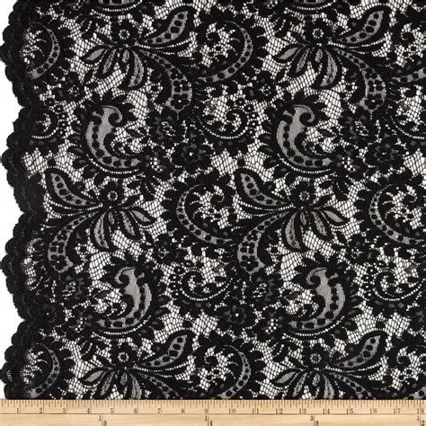 lace fabric black stretch lace fabric