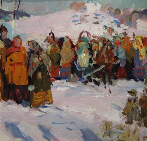 russian painting festival vintage pavel fedorovich shardakov russian winter festival