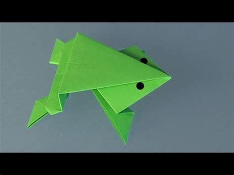 rana origami papiroflexia una rana de papel
