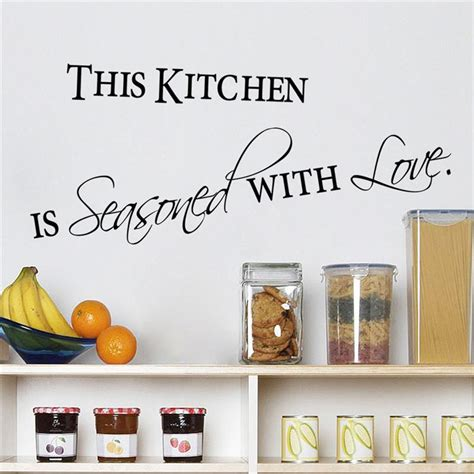 kitchen wall quote stickers kitchen quotes wall stickers decorations 8419 diy
