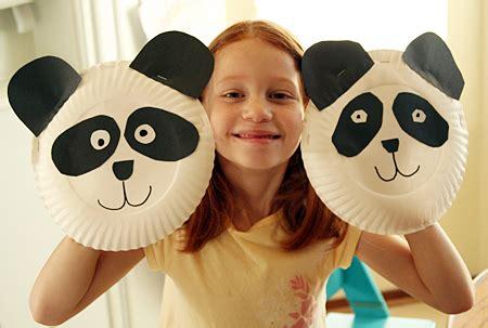 panda paper plate craft paper plate panda puppet family crafts