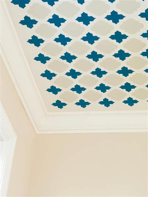 Master Bedroom Painting Ideas stencil a fun pattern on your ceiling hgtv